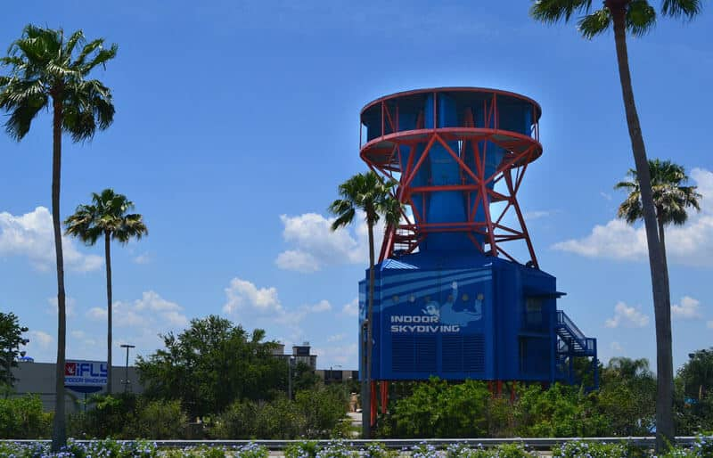 iFLY Orlando wind tunnel on a sunny day in Florida