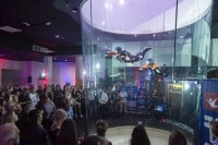 Instructors flying at the opening of iFLY Gold Coast