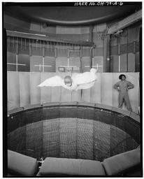 Jack Tiffany in Wright-Patterson Vertical Wind Tunnel