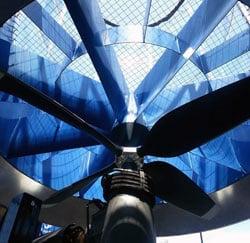 Propeller Below Wind Tunnel