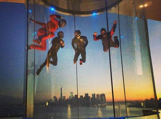 Flying with the city as the backdrop on board RipCord by iFly on Quantum of the Seas