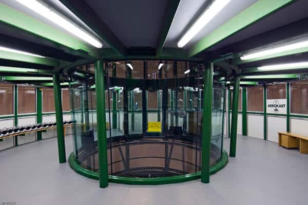 A photo showing the flight chamber at Aerokart in France.