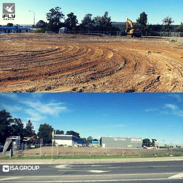 Check out the preparation on the site of the future iFLY Downunder wind tunnel in Perth.