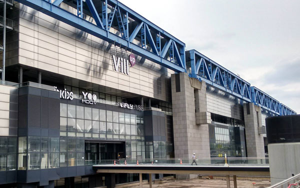 The iFLY sign is in place at an entrance at Vill'Up.