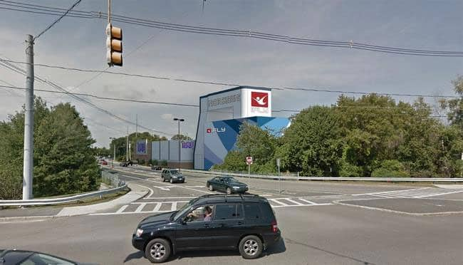 A photo showing a rendering of the future site of iFLY Boston.