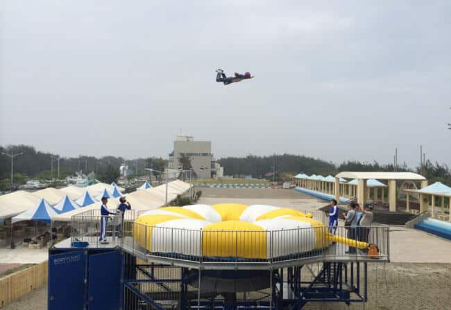 A photo high above Ufly at a beach festival.