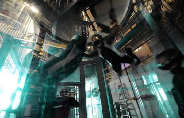 Flyers in Megafun Factory's Tornado wind tunnel