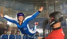 Happy Woman Flying in Lyon