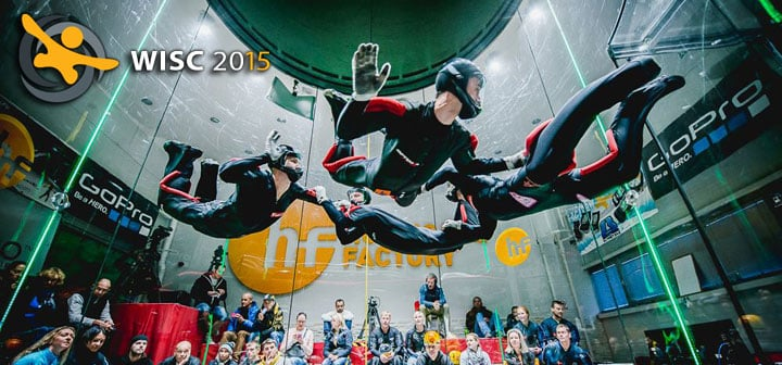 Competitors at the WISC 2015 Indoor Skydiving Championship Event