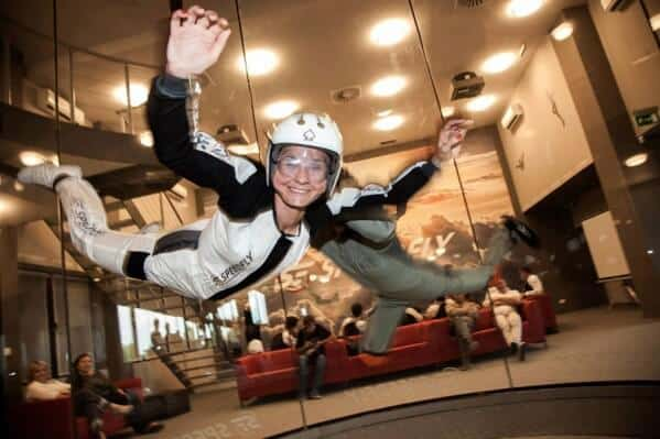 Woman During a Highflight at Speedfly