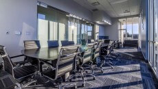 The conference room at iFLY Portland.