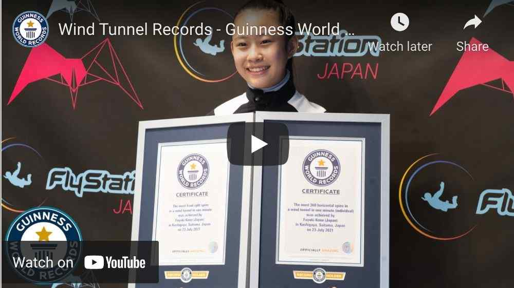 Indoor Skydiving World Record Video Link